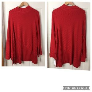 NWT Charter Club 2X red sweater - tunic length
